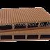 ไม้เทียม ปูพื้นแบบกลวง สีน้าตาลแดง ลายร่อง+ลายไม้ กว้าง 10cm,13.5cm,14.6cm x หนา 2.5cm x ยาว 220cm,240cm,300cm