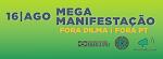 capa verde de mega manifestação anti PT