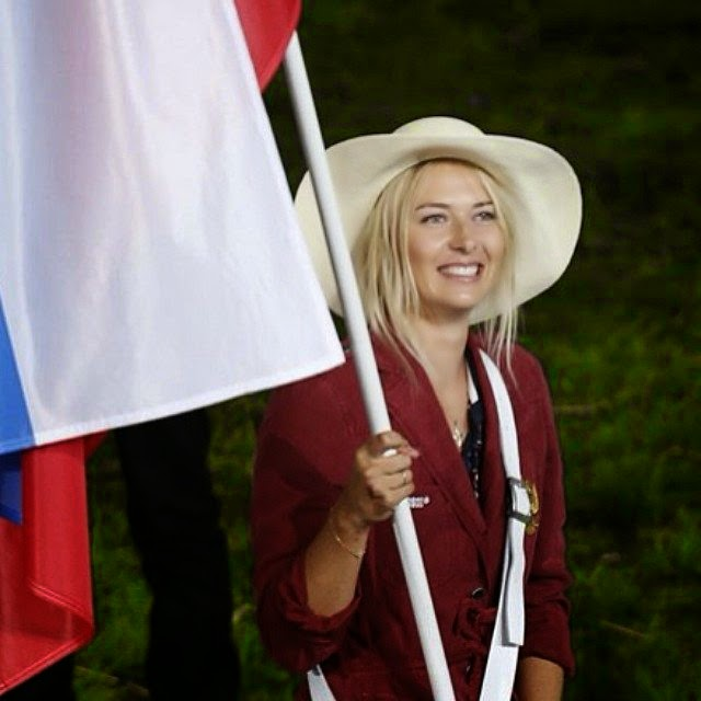 The Russian pedestrian lady, Maria Sharapova in Olympics 2012!! I will not forget about the beauty moment.  Source: