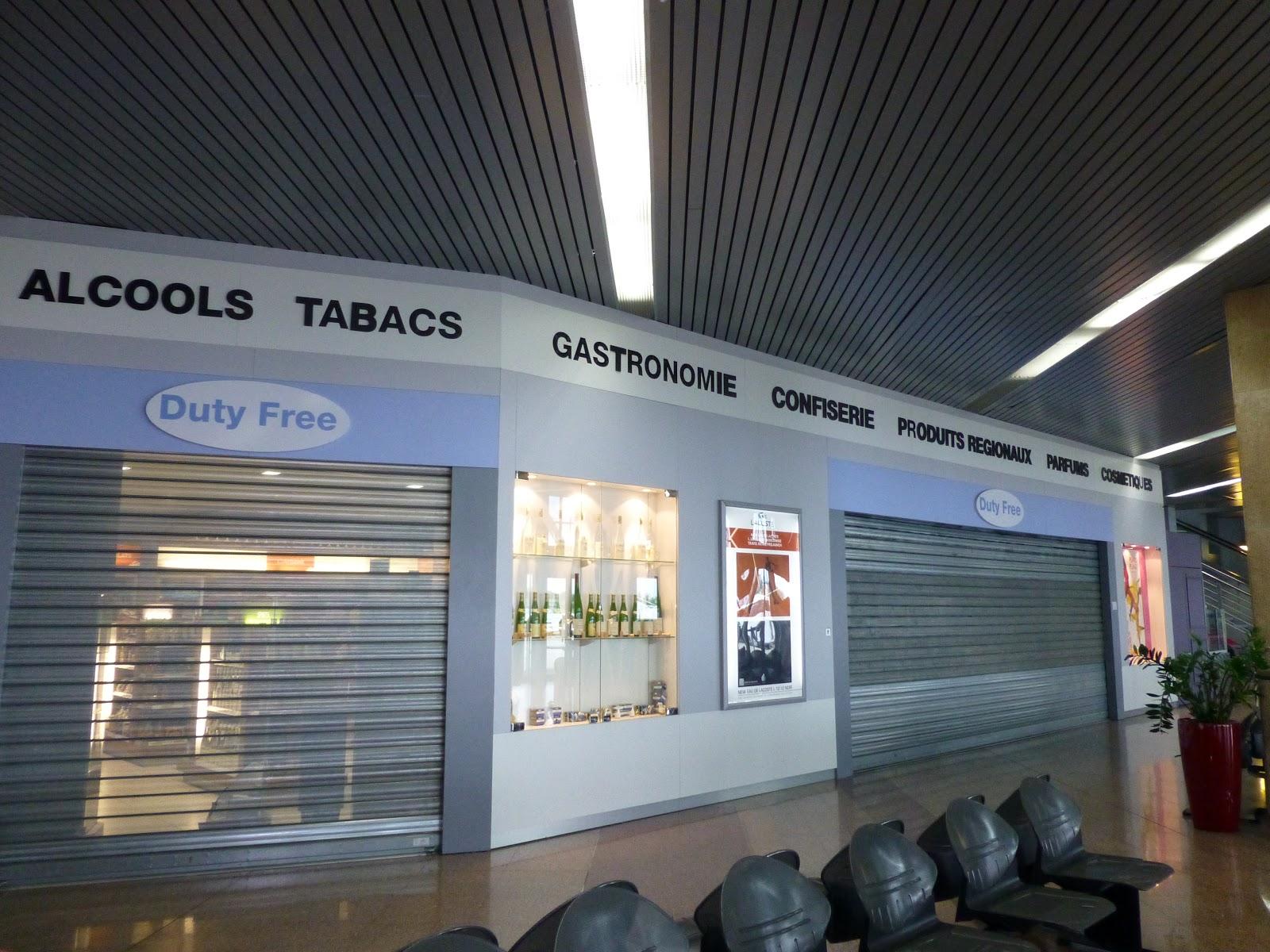 Duty free, fermé, strasbourg, aeroport, international