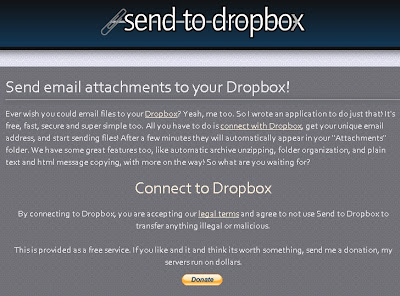 SendToDropBox.com – Send email attachments to Dropbox!