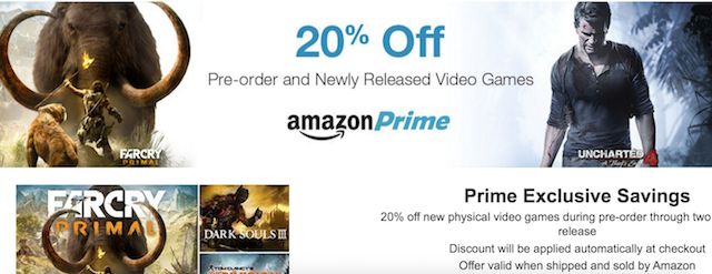 games, Amazon prime, Amazon prime discounts