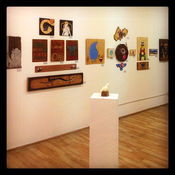 espionage gallery - ingrained: works on wood show - 19/7/12