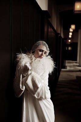 manteau de mariée années folle charleston