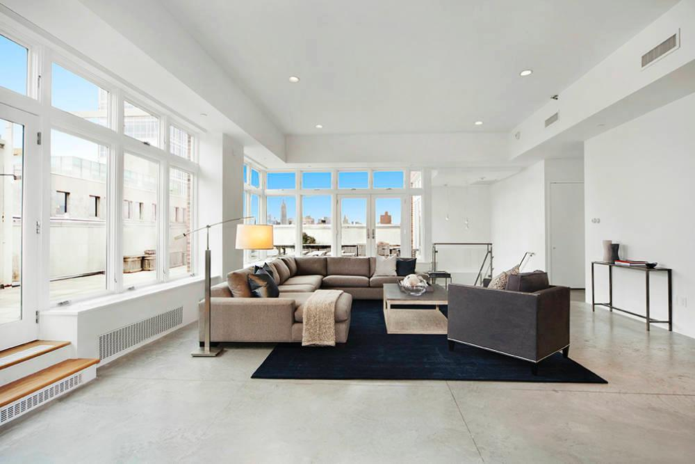 The 14 million dollar nyc penthouse rihanna checked out for Living room nyc
