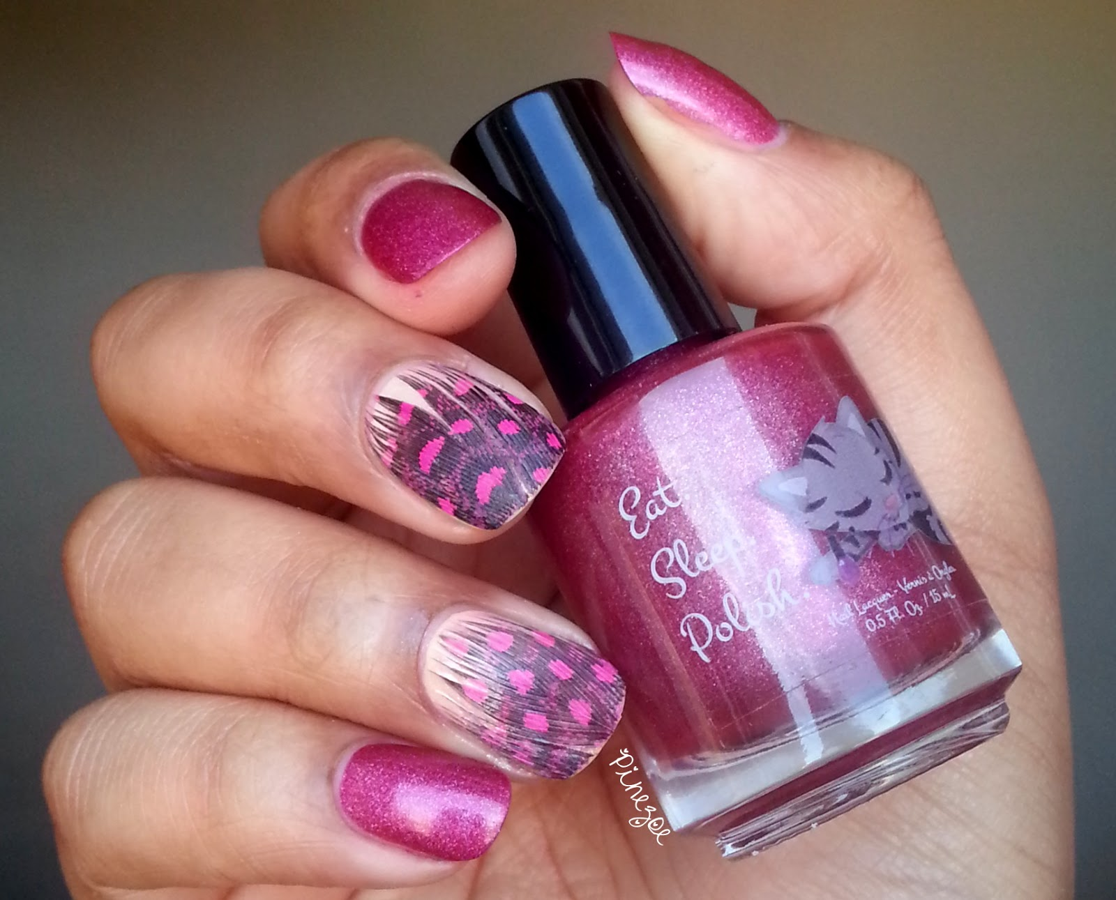Eat Sleep Polish - Glitter berry & Ciaté Feather Manicure Kit