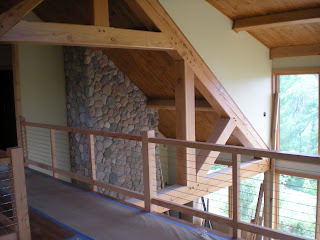 douglas fir and timber cable railing, stairs  http://huismanconcepts.com/