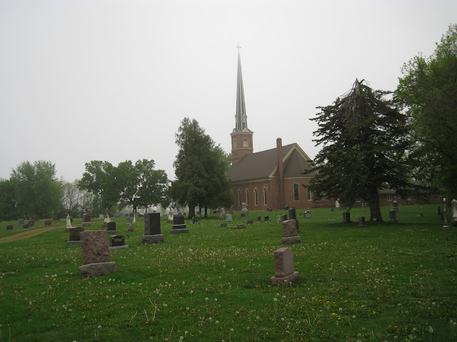 St. Brendan's Catholic Church & cemetery in Green Isle, Sibley County, Minnesota