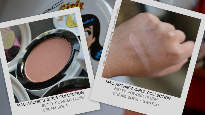 MAC Archies Girls Makeup Collection Spring 2013 Valentines Gift Ideas Photos Swatches Indian Beauty Blog Darker Skin WOC Betty Powder Blush Cream Soda Peach