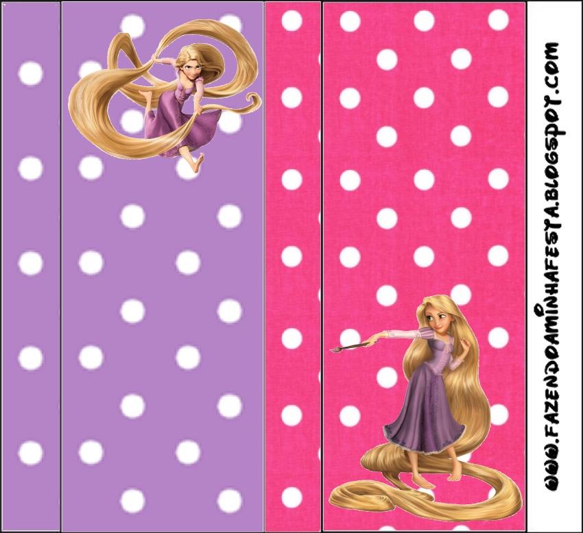 Princesa Rapunzel - Tarjetas de cumpleaños para imprimir
