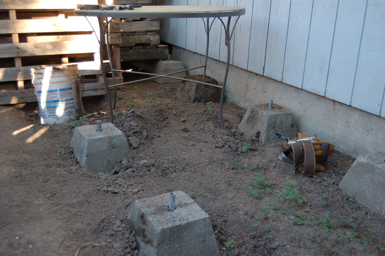 Secondhand goods rental backyard down to dirt part 2 for The pier foundation