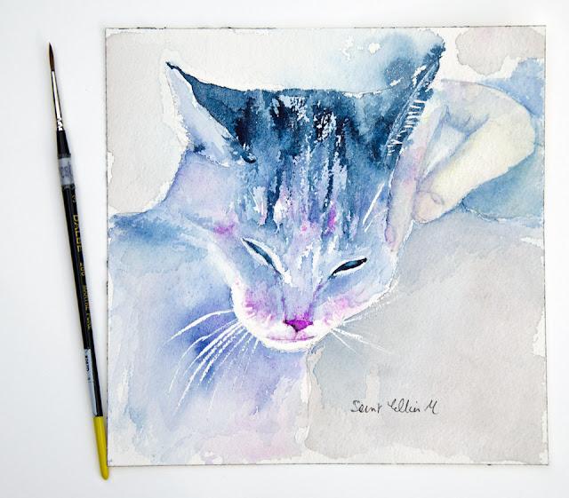 the purring cat