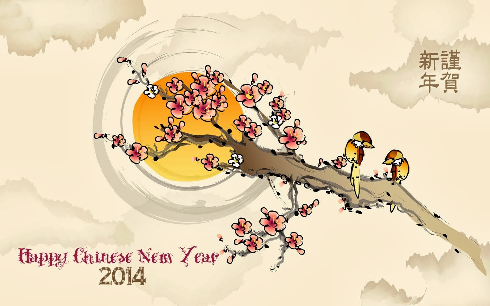 Happy new year 2014 wishes wallpaper with lunar new year greeting happy new year 2014 wishes wallpaper with lunar new year greeting cards m4hsunfo