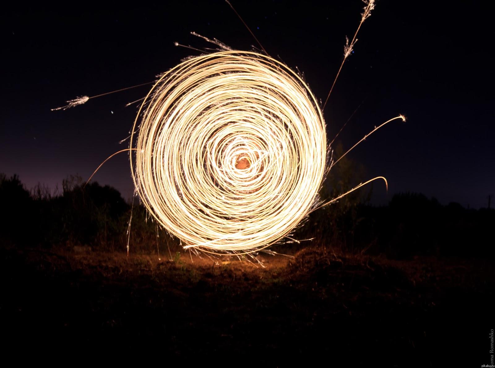 Как сделать горящую палочку