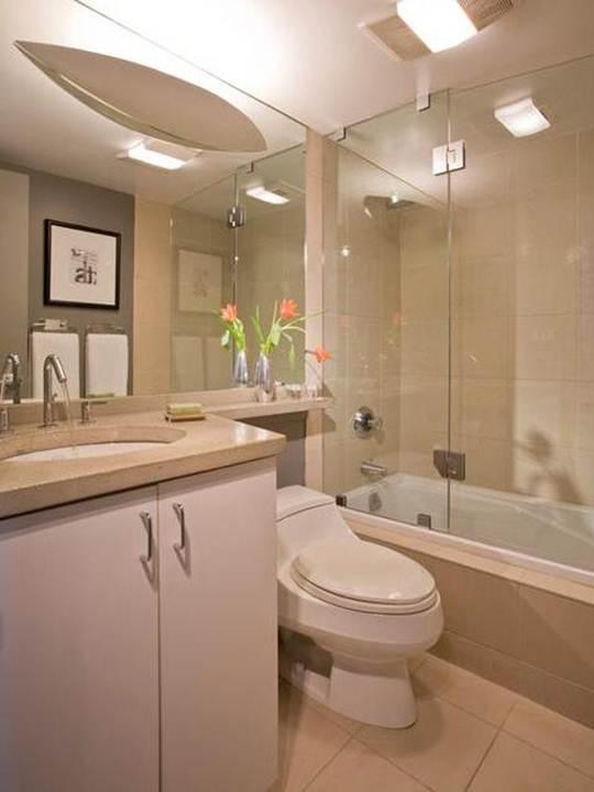 Eu moraria aqui 19 banheiros pequenos  dos mais simples aos rebuscados! -> Banheiros Simples Pintados