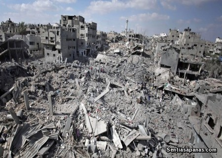 Gaza Destroyed by Terrorist