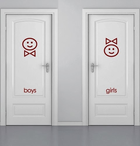 Mens and Womens Bathroom Signs