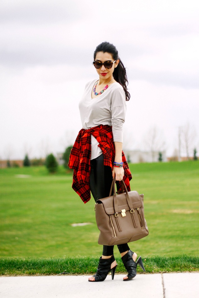 color by amber, tribal style outfit, leather leggings, pashli satchel, karen walker number one,