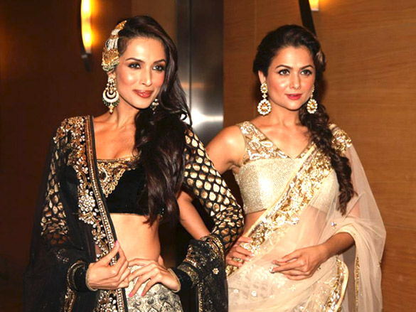 Malaika Arora Khan and Amrita Arora at Lakme Fashion Week 2012 - Day 11 - Malaika Arora Khan and Amrita Arora at Lakme Fashion Week 2012