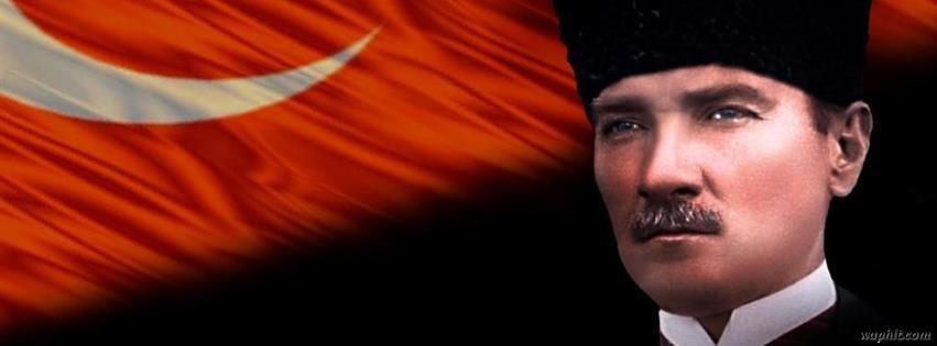 Atatürk ve Türk bayrağı facebook kapak fotoğrafı