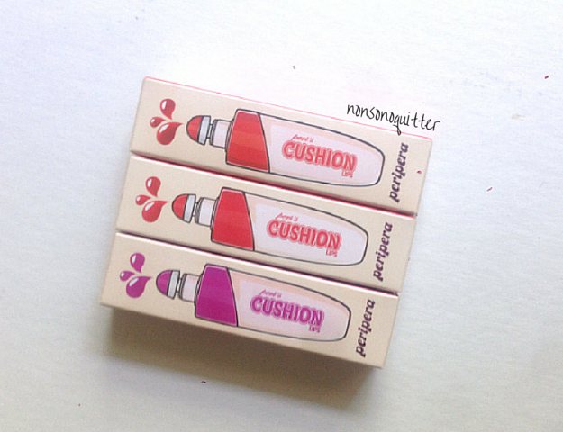 "Peripera ""Soft Matte Lip Creams"" Peris Cushion Lips Bubble Love Mini Dress Danger Swatches Review NC20 Asian Skin. 페라페라 페리스 쿠션 립스."