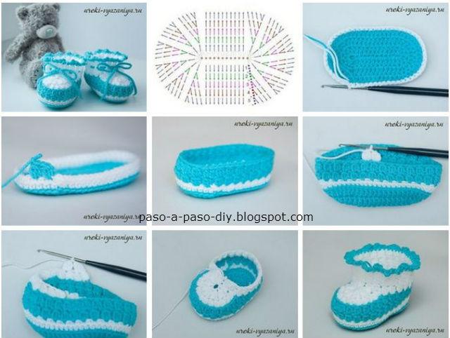 Aprende a tejer patucos crochet