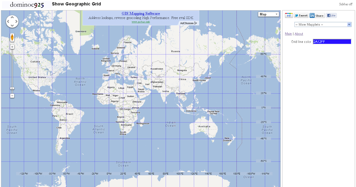Dominoc925 Show Geographic Grid Google Mapplet