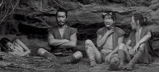 Toshiro Mifune in Akira Kuroasawa's The Hidden Fortress