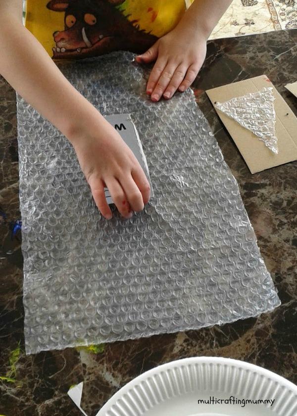 painting bubblewrap