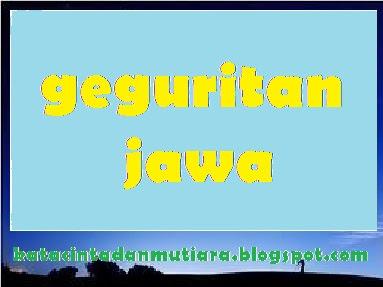 Kata Mutiara Cinta Contoh Geguritan Bahasa Jawa