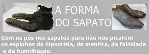 A FORMA DO SAPATO
