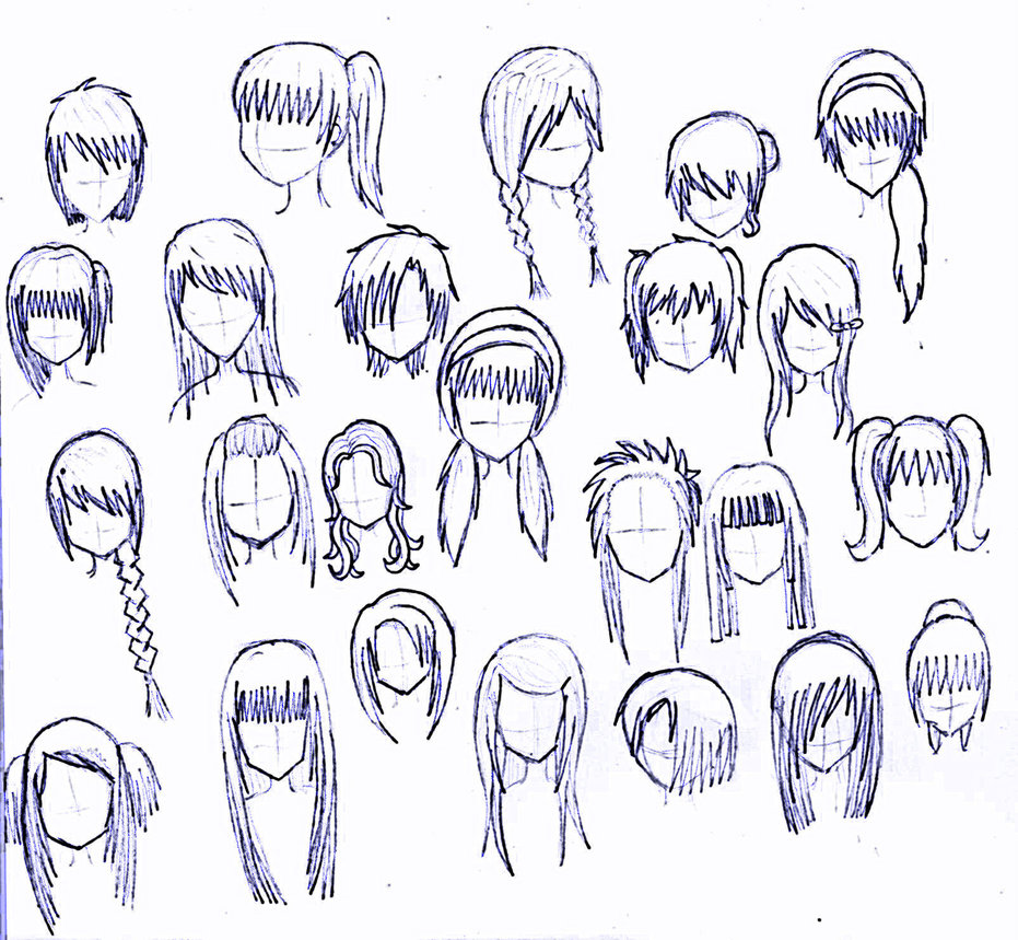Girl Anime Hairstyles 02Anime Girl Hairstyles Long