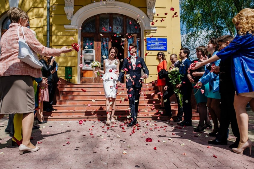 Wedding in Ternopil, western Ukraine