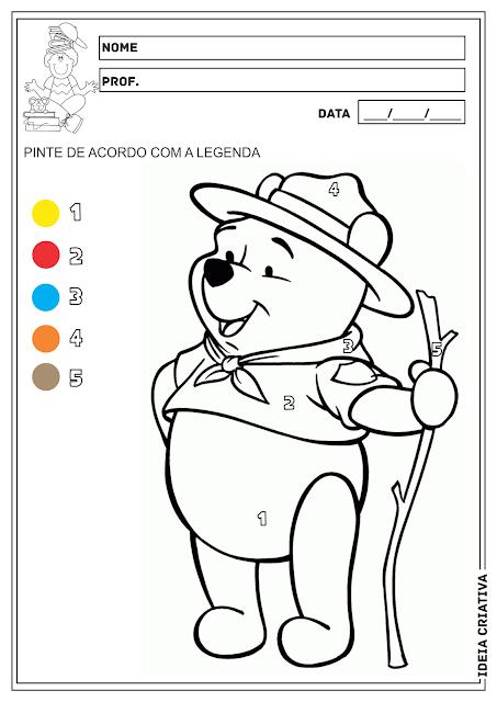 Pintura Legendada Ursinho Pooh