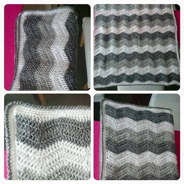 crochet ripple wave baby blanket lucys attic 24 attic24 pattern with border