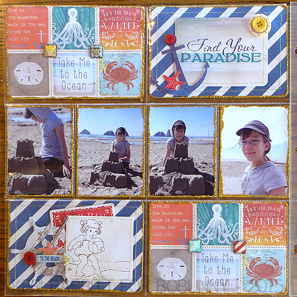 Find Your Paradise Misc Me by Keri Babbitt using BoBunny Boardwalk Collection