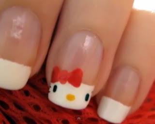 Coisas de Meninas: Unhas da Hello Kitty passo a passo