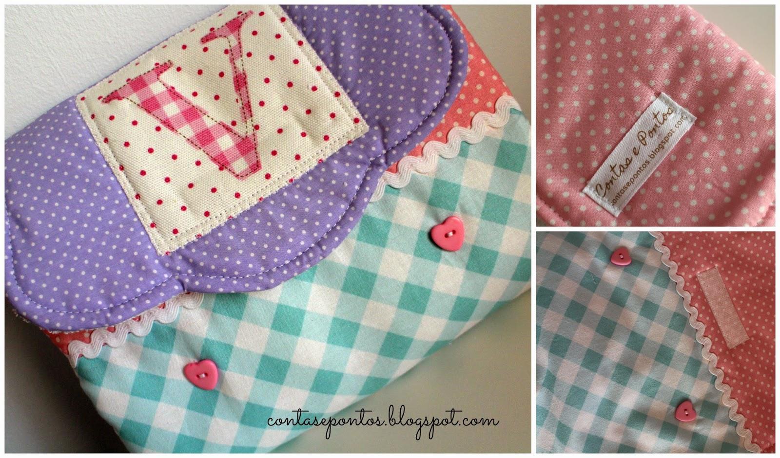Muda fraldas portátil em tecido