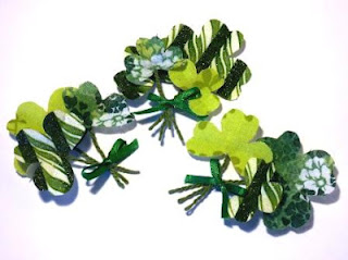 Fabric Shamrocks