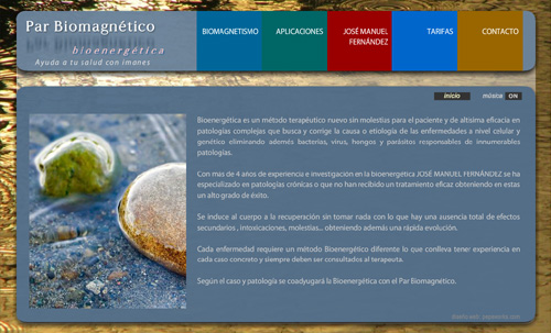 página web de Soluciones y Terapias Naturales, bioenergética, Par Biomagnético, Biomagnetismo