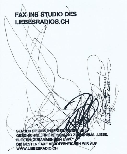 Fax ins Studio des LiebesRadio