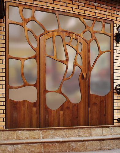 Fotos y dise os de puertas puerta gaudi Puertas metalicas usadas