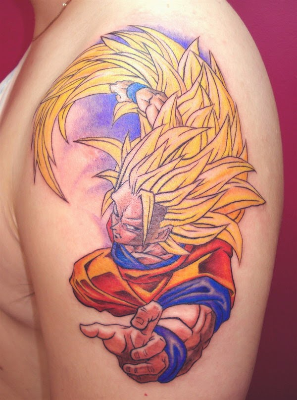Tatuagem Dragon Ball Z - Goku DBZ Tattoo