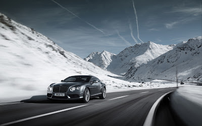 2013 Bentley Continental GT V8 front three quarter in motion