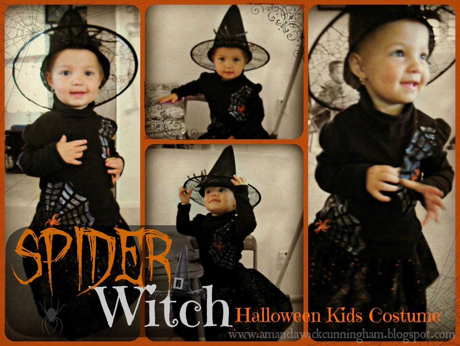 diy spider witch halloween kids costume