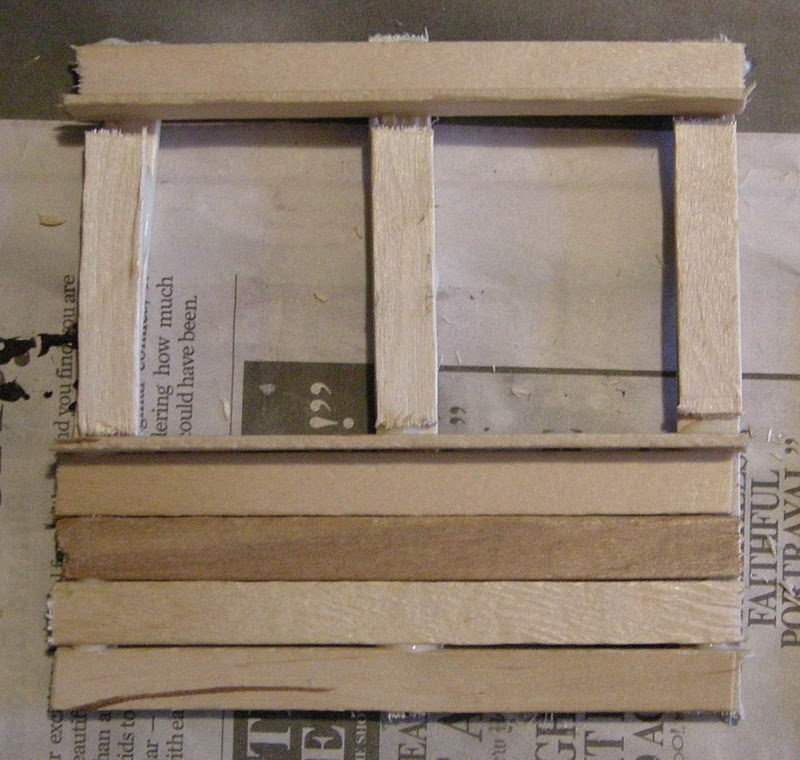 Any how town building a popsicle stick house the first for First step of building a house