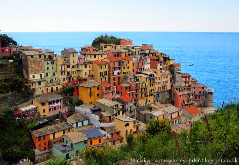 Looking back towards the ocean - Manarola - Cinque Terre, Italy