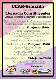 I Jornadas Constituyentes de Granada: Unidad Popular y Ruptura Democrática
