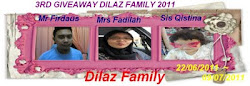 3rd GIVEAWAY DILAZFAMILY 2011