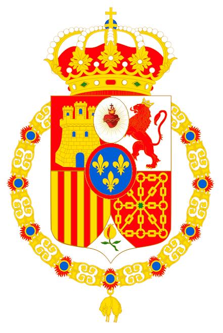 Escudo legitimista de S.M.C. don Carlos Javier I de Borbón; Rey de las Españas